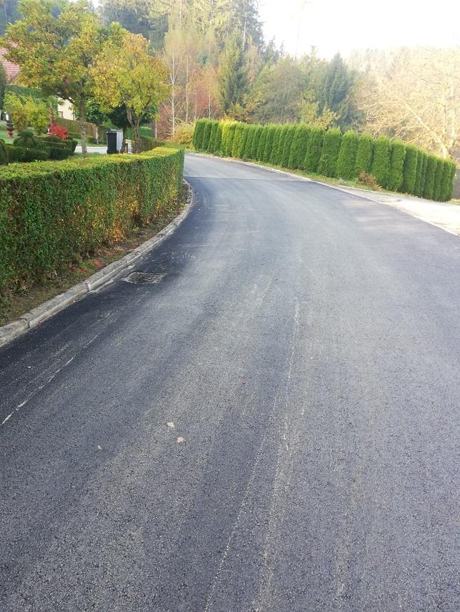 Obnovljena cesta po asfaltiranju