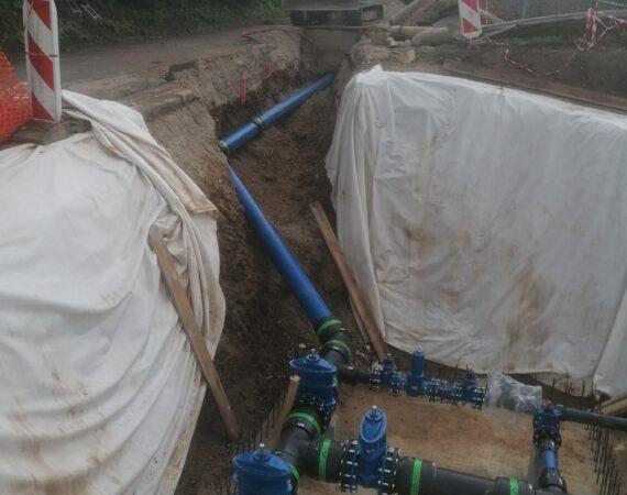 Novi razdelilni sistem za vodu v izkopanem jarku